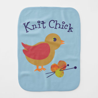 Knit Chick Burp Cloth