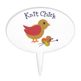 Knit Chick Cake Topper