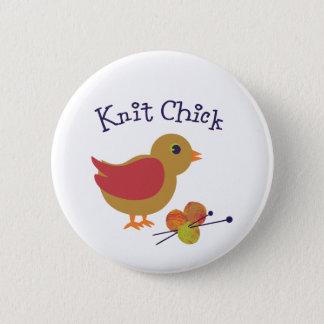 Knit Chick Pinback Button