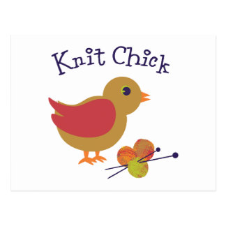 Knit Chick Postcard