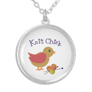 Knit Chick Silver Plated Necklace