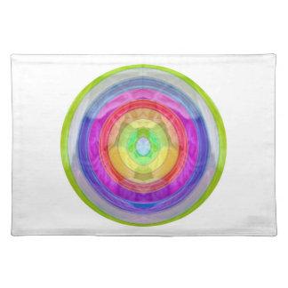Knit Club - Rainbow Woolen Balls Cloth Placemat