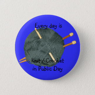 Knit Crochet in Public Pinback Button