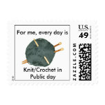 Knit Crochet in Public postage stamp.