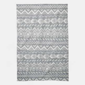 Knit fabric background hand towel