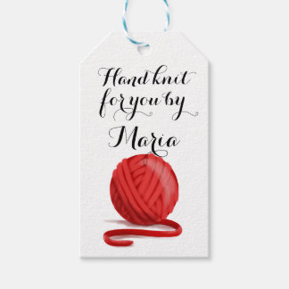 Knit for You Personalized with Care Info Gift Tags