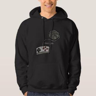 .knit.g33k. hoodie, dark pullover