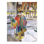 Knit Guy on Main St.  Ann Arbor, Michigan Postcards
