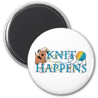 Knit Happens 2 Inch Round Magnet