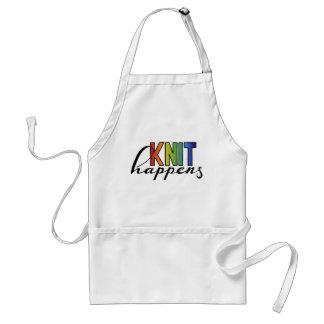 Knit happens adult apron