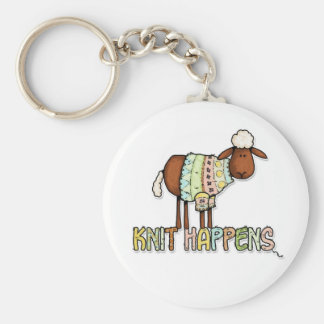 knit happens keychain