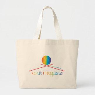 Knit Happens Large Tote Bag