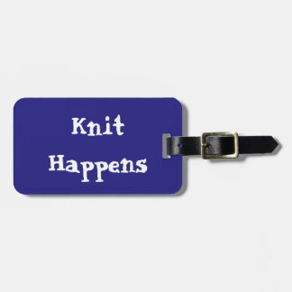 Knit Happens Luggage Tag