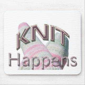 Knit Happens Mousepad (green & pink socks)