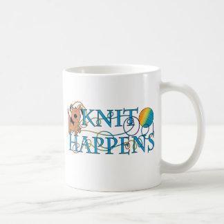 Knit Happens Classic White Coffee Mug