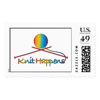 Knit Happens Postage Stamps
