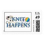 Knit Happens Postage Stamp