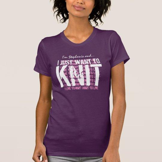 KNIT I knit to live T-Shirt