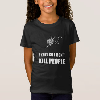 Knit Kill People White T-Shirt