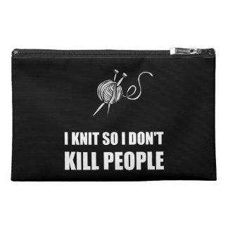 Knit Kill People White Travel Accessories Bags