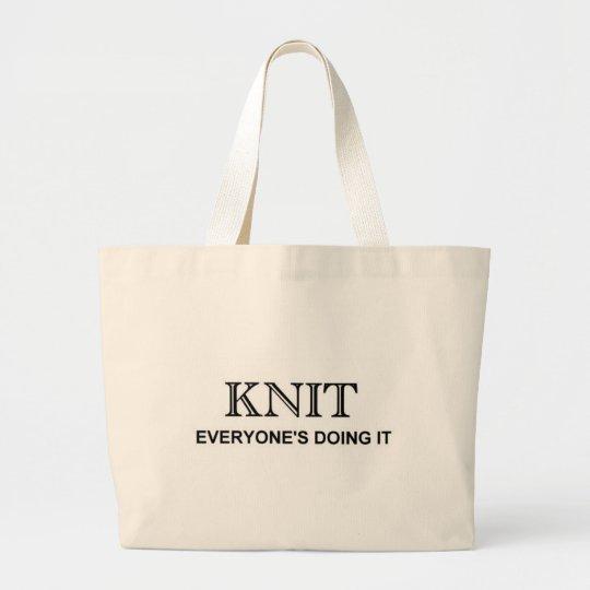 KNIT LARGE TOTE BAG