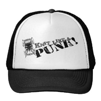 Knit Like a Punk trucker hat