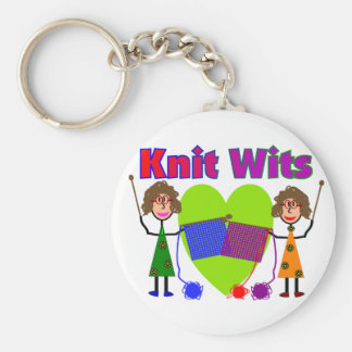 Knit Lovers Gifts Basic Round Button Keychain