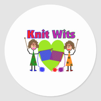 Knit Lovers Gifts Classic Round Sticker