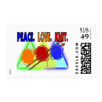 Knit Lovers Gifts Postage Stamp