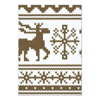 Knit Moose Sweater Pattern Card