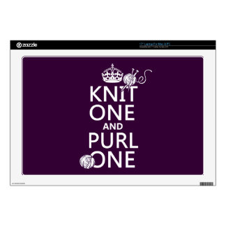 "Knit One and Purl One 17"" Laptop Decals"