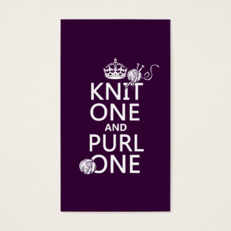 Knit One and Purl One Business Card
