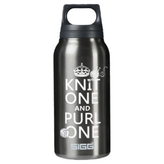 Knit One and Purl One (keep calm-all colors) Insulated Water Bottle
