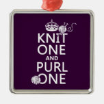 Knit One and Purl One (keep calm-all colors) Ornaments