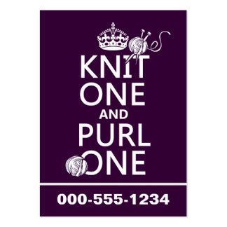 Knit One and Purl One (keep calm-customize) Business Card Template