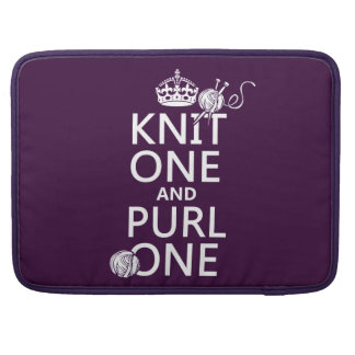 Knit One and Purl One MacBook Pro Sleeve