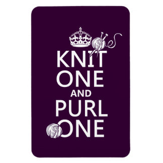 Knit One and Purl One Magnet