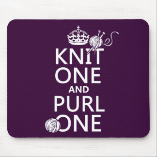 Knit One and Purl One Mouse Pad
