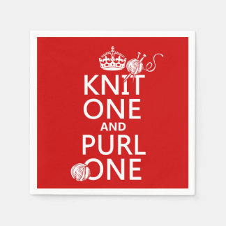 Knit One and Purl One Paper Napkin