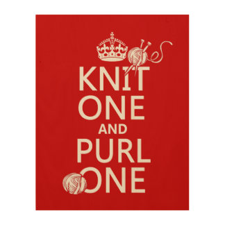 Knit One and Purl One Wood Wall Decor