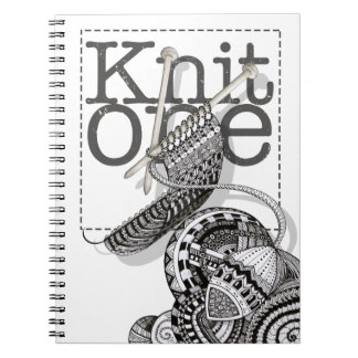 Knit One Doodle Art Spiral Notebook