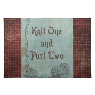 Knit One Purl Two: Creative Motivational Placemat