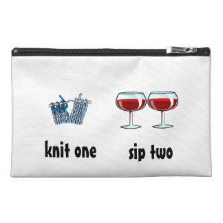 knit one, sip two travel accessories bags