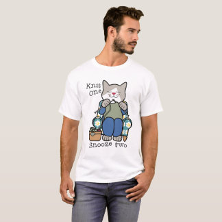 Knit One Snooze Two Knitting Humor T-Shirt
