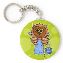 knit owl keychain