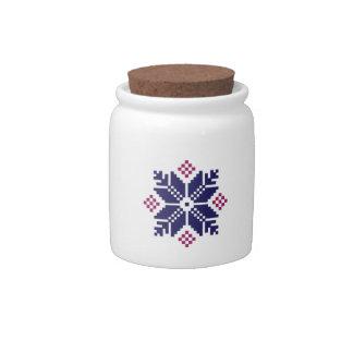 Knit Pattern Candy Jar