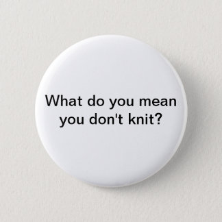 Knit Pinback Button