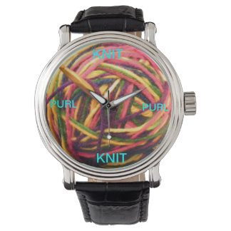 Knit Purl Knit Knitting Watch