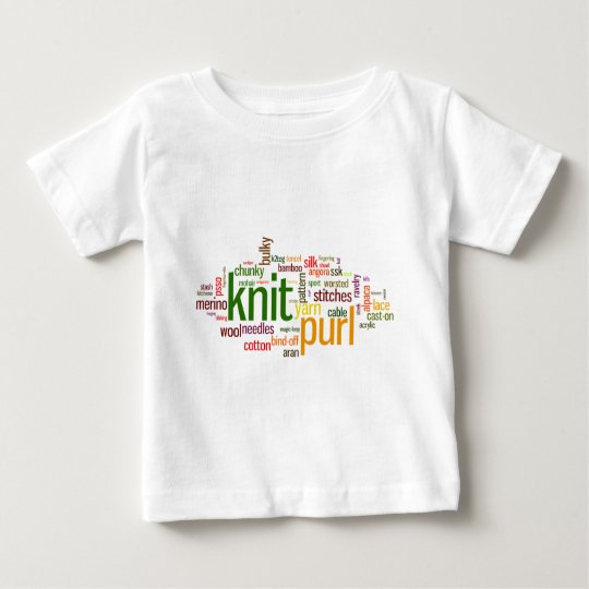 Knit Purl Knitting Lexicon for Knitters Baby T-Shirt