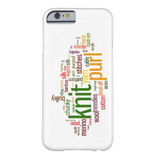 Knit Purl Knitting Lexicon for Knitters Barely There iPhone 6 Case